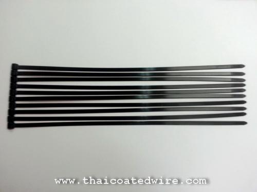 เคเบิ้ลไทร์สเตนเลสเคลือบพลาสติกCoated Stainless Steel Cable Tie