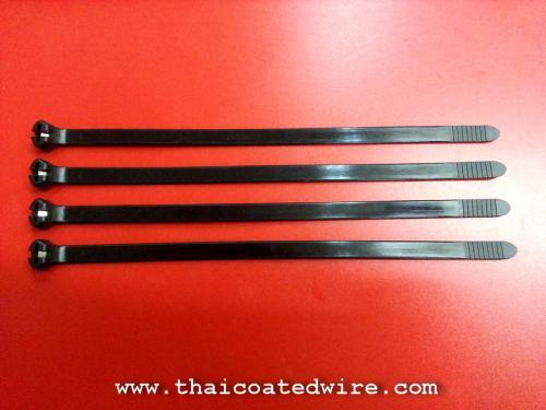 เคเบิ้ลไทร์เขี้ยวสเตนเลส (Metal Pawl Cable Tie)ตัวล็อคเป็นเขี้ยวสเตนเลส แข็งแรง ไม่สามารถแกะออกได้